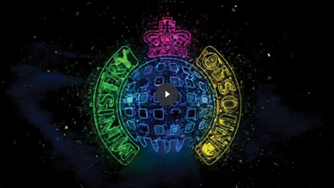 MInistry of Sound commercial cover with video play icon.